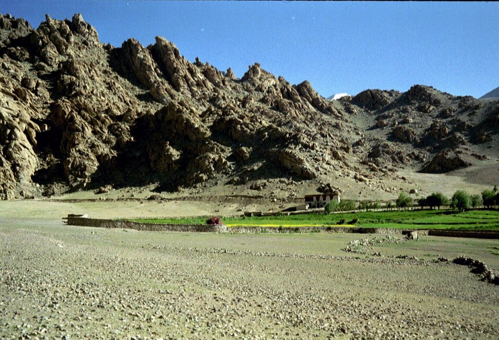 Dit soort landschappen vind je overal in Ladakh - erg indrukwekkend!
